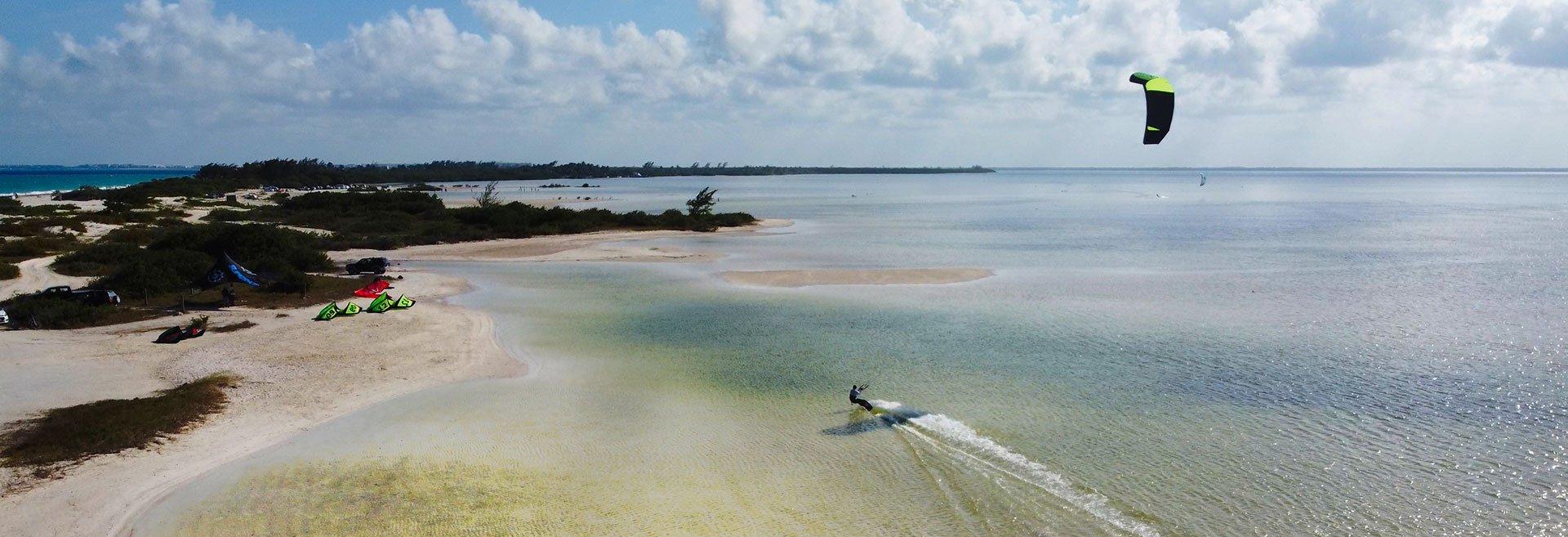 Cancun kiteboarding