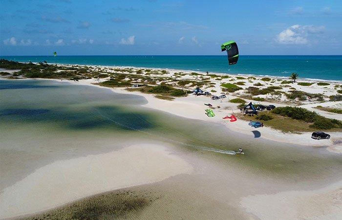 Isla Blanca kiteboarding spot